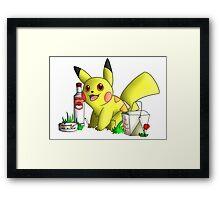 Helen the Pikachu Design Framed Print