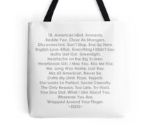 5 Seconds of Summer: songs Tote Bag