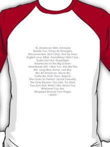 5 Seconds of Summer: songs T-Shirt