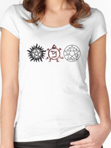 Supernatural Symbols Women's Fitted Scoop T-Shirt