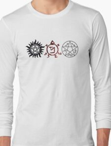 Supernatural Symbols Long Sleeve T-Shirt