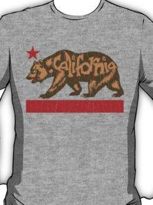 Fuzzy California Bear (vintage distressed look) T-Shirt
