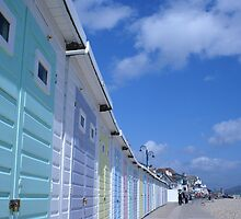 Beach huts  by Steve Neeves