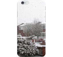 Falling Thick and Fast -  Winter Street Scene iPhone Case/Skin