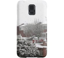 Falling Thick and Fast -  Winter Street Scene Samsung Galaxy Case/Skin