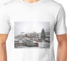 Falling Thick and Fast -  Winter Street Scene Unisex T-Shirt