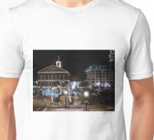 Boston Faneuil Hall at Night during Christmas Unisex T-Shirt