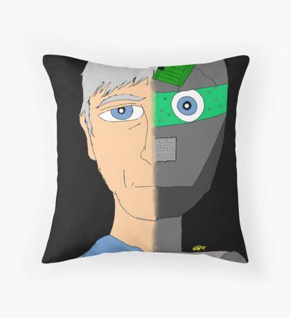 The Android- Douglas Kerrigan Throw Pillow