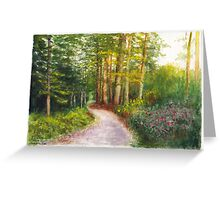 Bavarian Autumn Evening Greeting Card