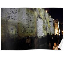 Audio visual show on the walls of Jerusalem Poster