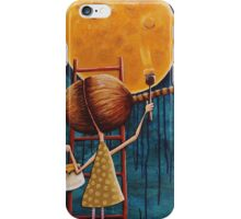 Painting the moon iPhone Case/Skin