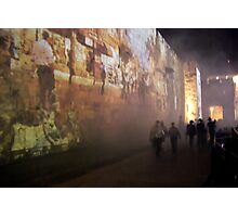 Audio visual show on the walls of Jerusalem Photographic Print