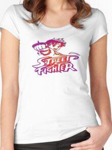 Sakura Street Fighter Women's Fitted Scoop T-Shirt