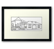 Model Home Framed Print