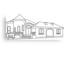 Model Home Canvas Print