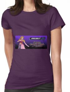 Zelda with Melee and Project M logos Womens Fitted T-Shirt