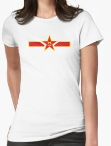 Roundel of the People's Liberation Army Air Force  Womens Fitted T-Shirt