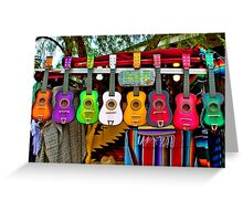 Colorful Mexican Ukeleles Greeting Card