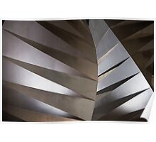 Abstract steel sculpture Poster
