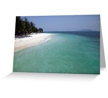 The beautiful beach Greeting Card