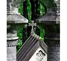 Cross in the Woods Photographic Print