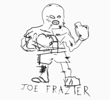 Joe Frazier Sticker (White) by JamesShannon