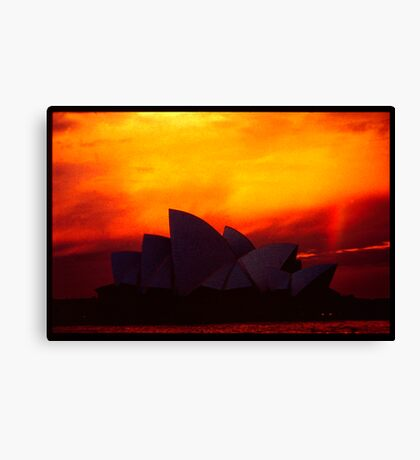 House of Red and Gold Canvas Print