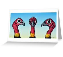 Bush Turkeys Greeting Card