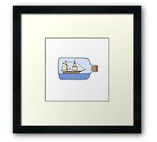 Ship in a Bottle Framed Print