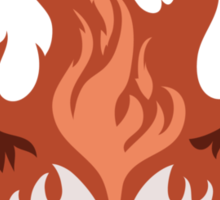 Legend of Korra: Fire Ferrets Pro Bending Emblem - no text Sticker
