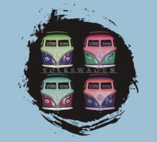 Pop Kombi Splat VW T-shirt by KellieBee