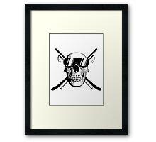 Skiing Skull Framed Print