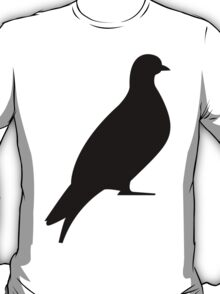 One Day Film Pigeon Logo (black) T-Shirt