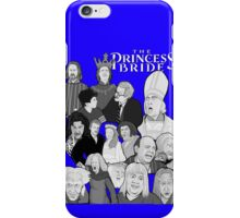 the Princess Bride character collage iPhone Case/Skin