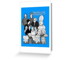 the Princess Bride character collage Greeting Card