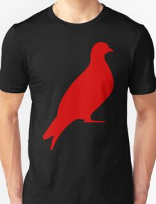 One Day Film Pigeon Logo (red) T-Shirt