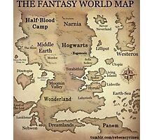 Fantasy World Map Photographic Print