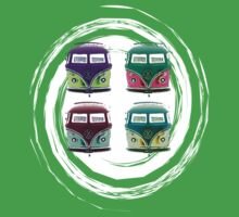 Pop Kombi VW Swirl T-shirt by KellieBee