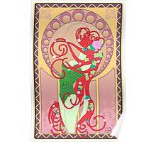 Poison Ivy Art Nouveau Poster