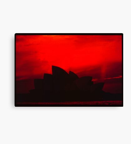 House of Ruby Red Canvas Print