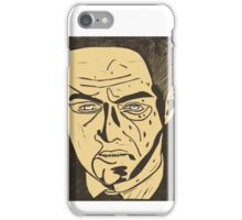 Jude Law as Harlen Maguire from Road to Perdition, linocut iPhone Case/Skin