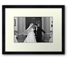Stop the Kiss! Framed Print