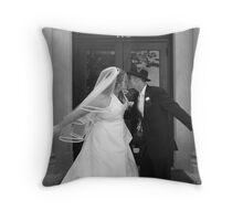 Stop the Kiss! Throw Pillow