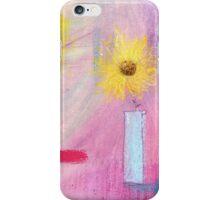 Sunflower in blue jug iPhone Case/Skin