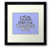 Wigging Out Framed Print