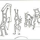 Petits Dessins Debiles - Small Weak Drawings#30 by Pascale Baud