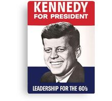 JFK Campaign Poster Canvas Print