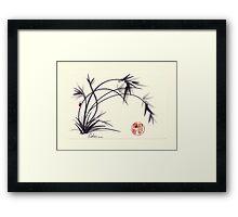 Sweet Simple Life of a ladybug Framed Print