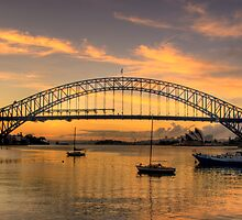 Moods Of A City #2 - The HDR Series - Sydney Harbour, Sydney Australia by Philip Johnson
