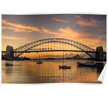 Moods Of A City #2 - The HDR Series - Sydney Harbour, Sydney Australia Poster
